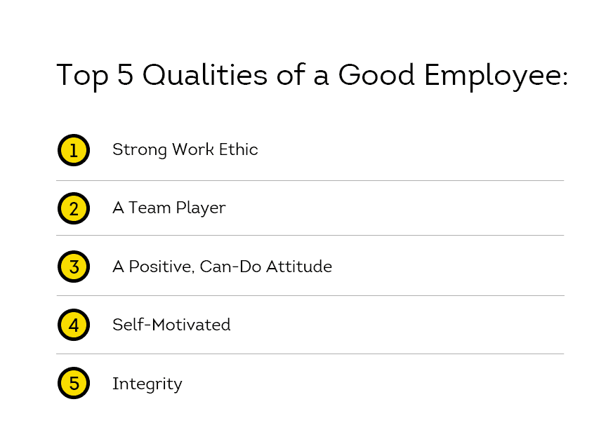 top qualities of an employee