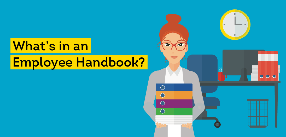 What's included in an employee handbook?